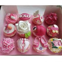 BABY PINK CUP CAKES