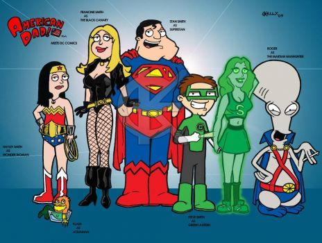 American Dad meets DC Comics