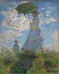 Claude Monet - Woman with a Parasol - Madame Monet and Her Son, 1875 (Mar17P69)
