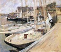 John Henry Twachtman (American, 1853–1902), Fishing Boats at Gloucester (1901)