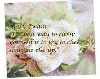 Cheer up someone else...