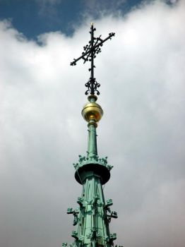 Church Spire in Prague 2002