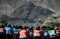 Riders in the Tour of Oman