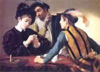 Caravaggio - Cardsharps (1594)