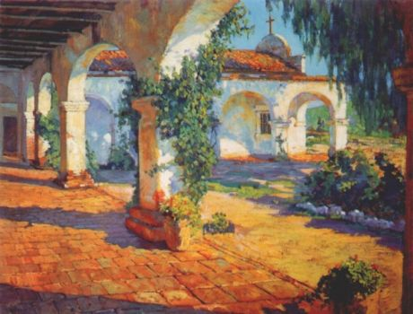 Mission Cloisters, San Juan Capistrano by Alson Clark