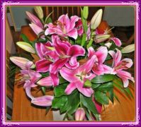 Lilies in a vase.