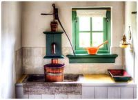 Kitchen Sink and Food Prep Counter from Another Era