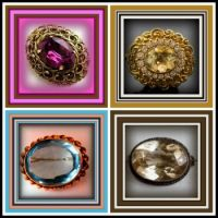 Theme - Round and Oval - Victorian Brooches