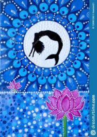 painting-mermaid-jumping-lake-moon-lotus-flower-acrylic-paints-dot-painting-painting-mermaid-jumping-128901282