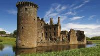 Castle at Caerlaverock.  Research will begin at the castle site on Saturday.