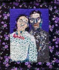 Francis and Violette ~ quilt by Bisa Butler