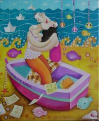 Leandro Lamas Art - Pablo et Raquele all at Sea!