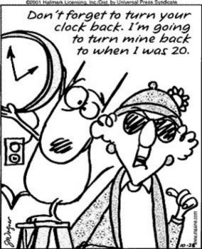 In USA Turn Your Clock Back Tonight - Do yours your way and I'll do mine my way