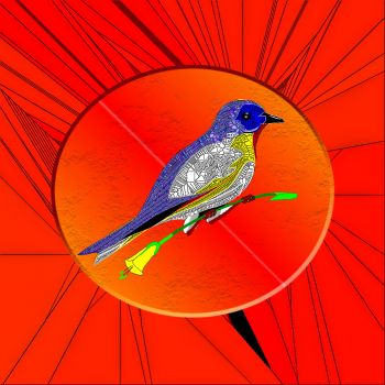 Stained Glass Bird 11