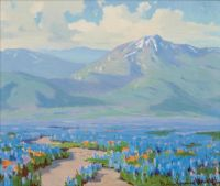 Marion Kavanaugh Wachtel (American painter) 1875 - 1954 Poppies and Lupine, ca. 1930