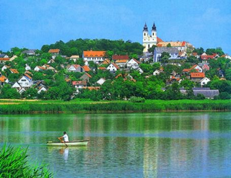 View of Tihany from Lake Balaton