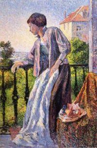Madame Luce on the Balcony _ Maximilien Luce