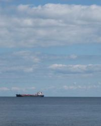 Cargo ship on Lake Ontario