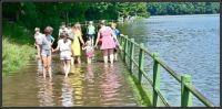 Rozlitá přehrada po bouřkách 2021 v Liberci...  Spilled dam after storms 2021 in Liberec ...