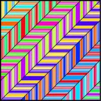 Striped Diagonals (XL)