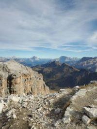 Panorama from Marmelada Dolomites