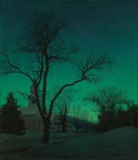"""Maxfield Parrish """"At Close of Day"""""""