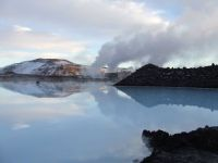 Geothermal plant at the Blue Lagoon Icland