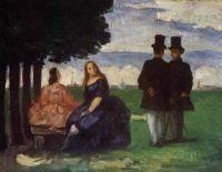 Paul Cézanne: Promenade (1866)