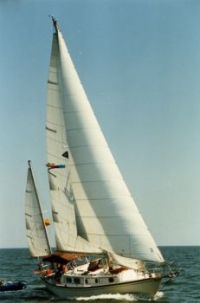 Eva Marie under sail