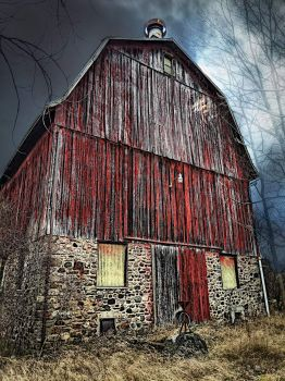 circa 1830 barn, Churchville, NY