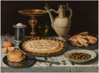 Table with Orange, Olives and Pie, 1611