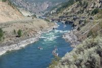 River rafters in the Fraser Canyon