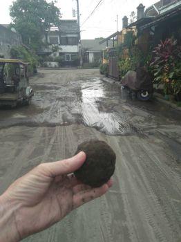 volcanic ash ball