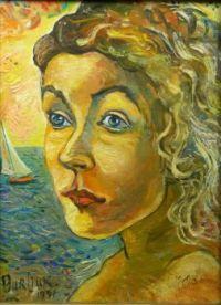 David Burliuk -  Looking Out to Sea