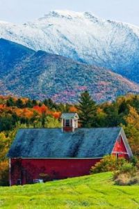 Mt Mansfield Barn from Pleasant Valley Rd, Vermont