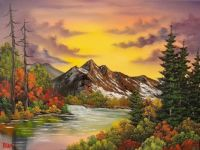 Fall Mountain Scene