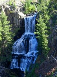 My newly discovered, prettiest waterfall in Yellowstone National Park: Undine Falls, 9 23 13