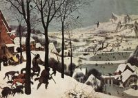 """The Hunters in the Snow"" 1565-Pieter Bruegel the Elder"