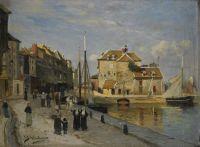 """Carl Skånberg, """"Harbor in Honfleur"""""""