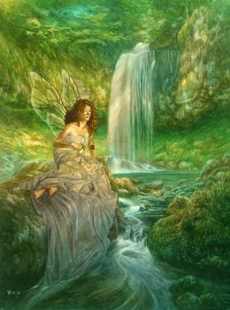 Fairy by the Waterfall