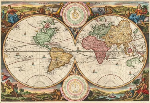 Old world map 3716 468 pieces jigsaw puzzle old world map 3716 gumiabroncs Images