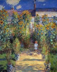 Claude Monet - The Artist's Garden at Vetheuil,1880 - especially for Beverly (Mar17P40)