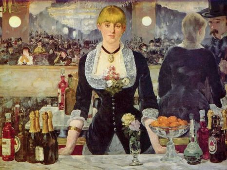 Édouard Manet- A bar at the Foiles-Bergere-1882