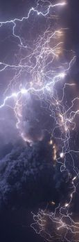PURPLE SKY AND ALOT OF LIGHTNING--A BOOKMARK PUZZLE
