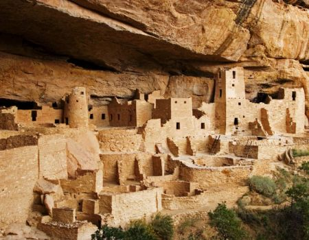 Mesa Verde dwellings, Colorado, U.S.A.