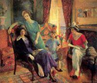 William James Glackens - Family Group, 1911 - Cafe de la Paix
