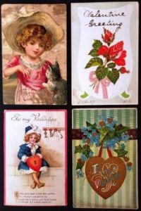 Antique Valentines Postcards 1- Over 100 years old