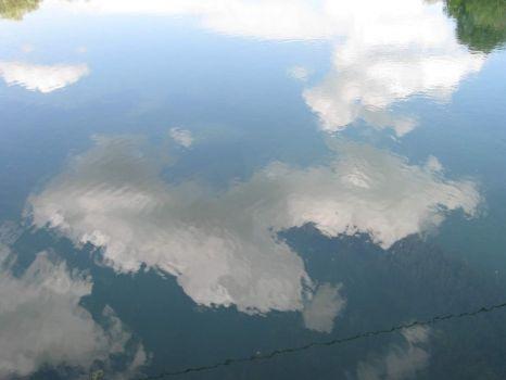 The sky upside down at Krka river, Slovenia