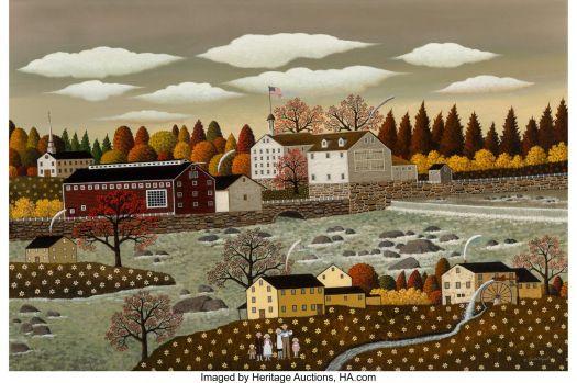 Rhode Island Waterfall - Charles Wysocki
