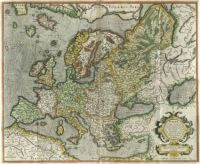 old map of Europe by Gerard Mercator (1595)